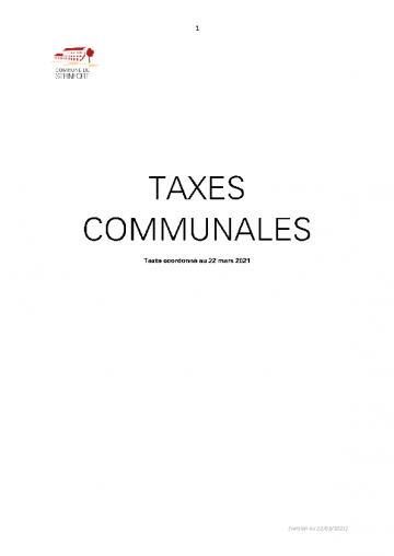 Taxes communales