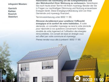 Aktionswoche / Semaine myenergy at home